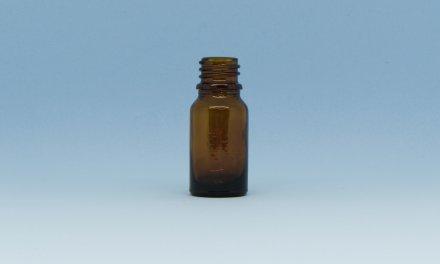 Vidro Âmbar 10 ml – rosca 18 mm