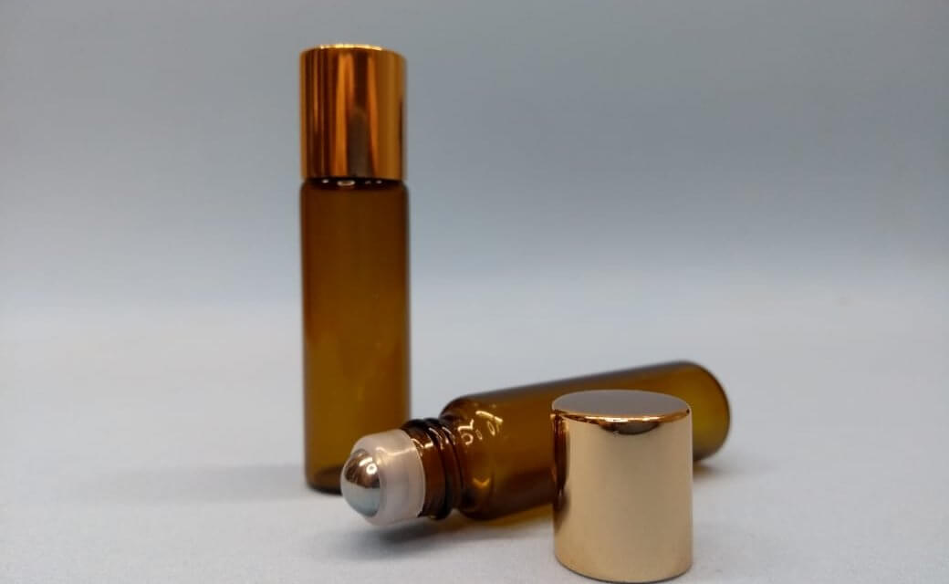 frasco roll-on âmbar 5ml