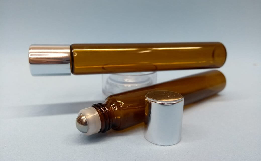 frasco roll-on âmbar 10ml